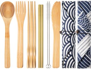 Boao 2 Sets of Reusable Bamboo Utensils