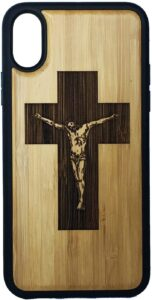 Crucifix Cross Bamboo iPhone XR Case