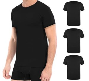 DAVID ARCHY Soft Comfy Bamboo Rayon UnderT-shirts – Crew Neck Tees