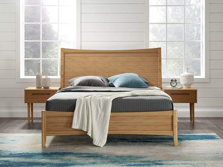 Eco Ridge Willow Bamboo Platform Bed, Queen, Caramelized