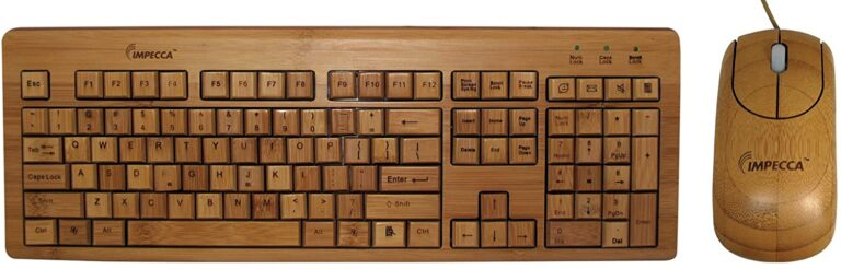 Impecca bamboo keyboard