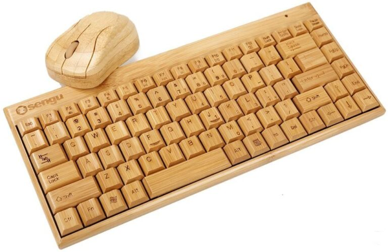 SNGU Wireless Bamboo Keyboard