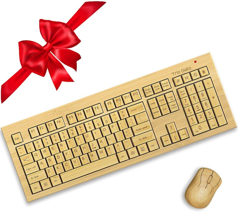 Trio Gato Wireless Bamboo Keyboard