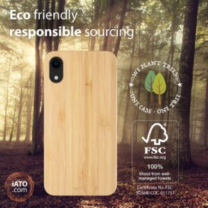 iATO iPhone XR Bamboo Case